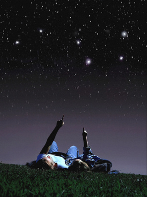 lying on grass watching a meteor shower, grass at night, lying down watching stars, lying down viewing stars, viewing stars, viewing meteors